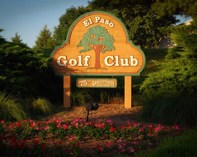 el paso golf club sign